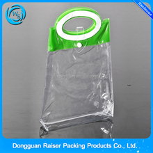 Non-toxic handle top clear plastic pvc promotional custom gift bag with logo