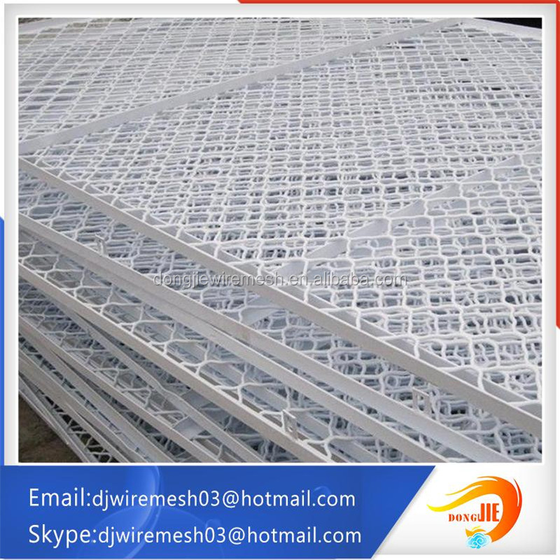 stainless &aluminum alloy hexagonal hole beautiful grid wire mesh