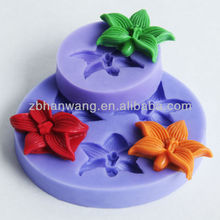 mini lily flower fondant mold Nicole fondant Decorating fondant cake mould silicone rubber F0468