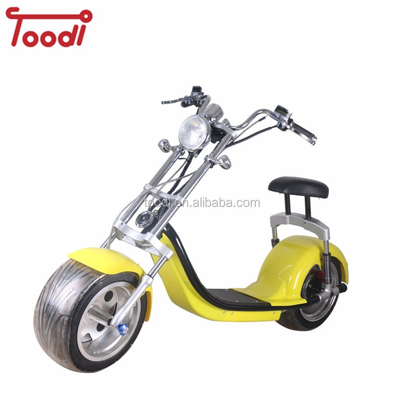 TD-C7 2018 citycoco 1500w electric scooter with brake /turn light, front basket