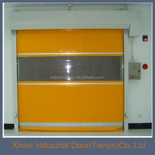 Automatic safety vinyl high speed roll up door HSD-090