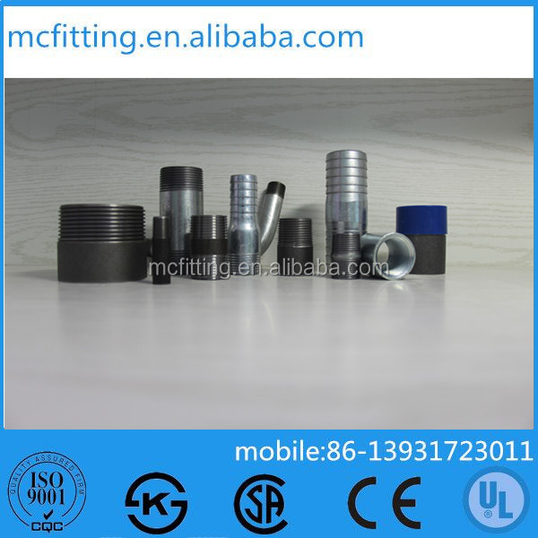 Malleable iron steel Pipe Nipple quick coupling joint