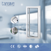 beautiful design kitchen swing door with frosted glass -aluminum
