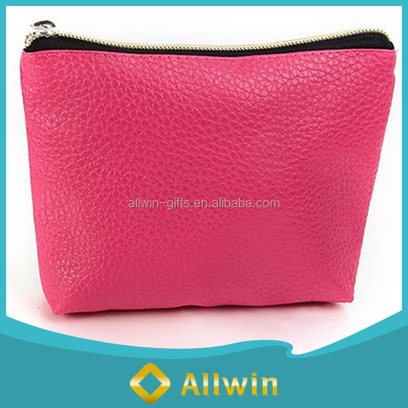 Fashional Style Zippered PU Leather Coin Pouch