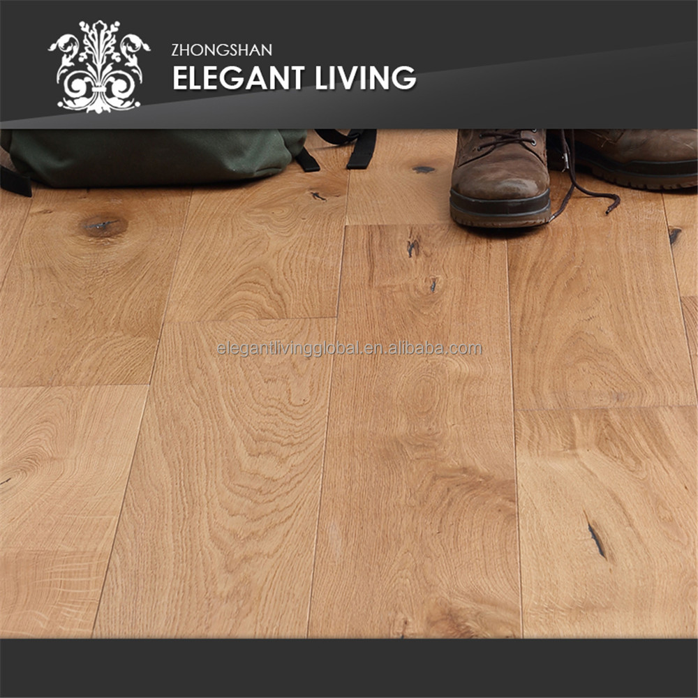 Wire Brushed European Oak Engineered Wooden Floors