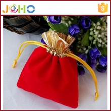 Wholesale Gold flannel red velvet bag jewelery gift bag