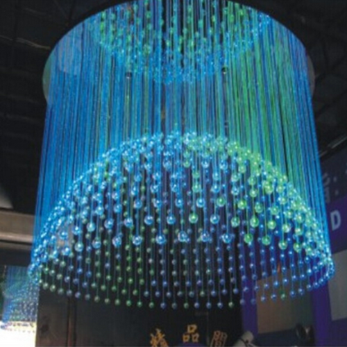 Crystal led fiber optic chandelier storefront led lighting