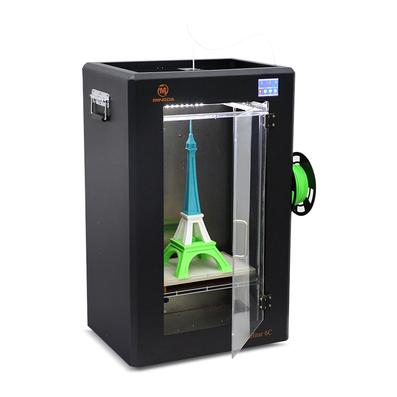 High quality 3d printing machine, Chinese manufacture Mingda Glitar6C 300*200*600mm China brand industrial 3d printing machine