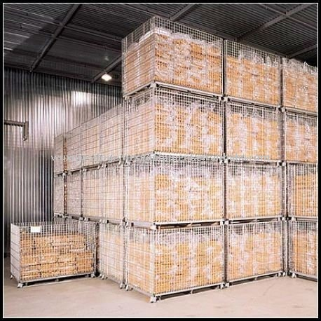 Euro collapsible mesh cage,warehouse stack box,wire mesh cage