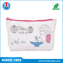 Fugang Wholesale Women Canvas Cosmetic Bags With Logo Customized