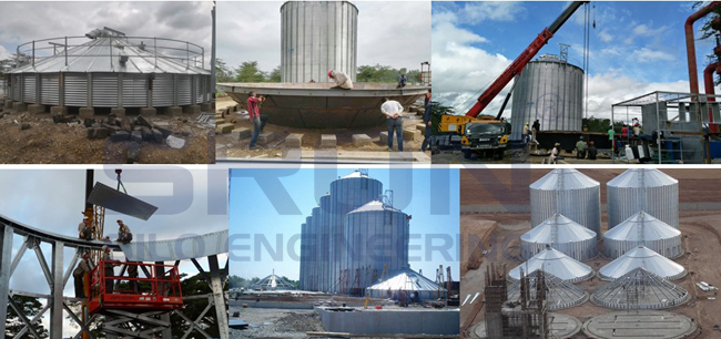 Large Capacity Grain Storage Silo Bin Manufacturer_Industrial Used Galvanized Steel Spiral Silo