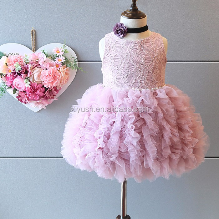 Good quality professional baby girls party wear dress