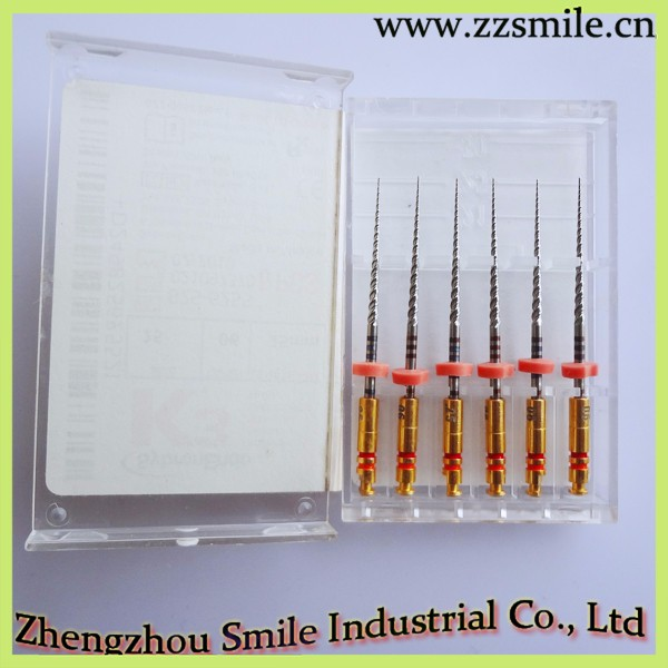 Dental rotary nickel titanium Endodontic K3 Files /SybronEndo K3 Files for engine use
