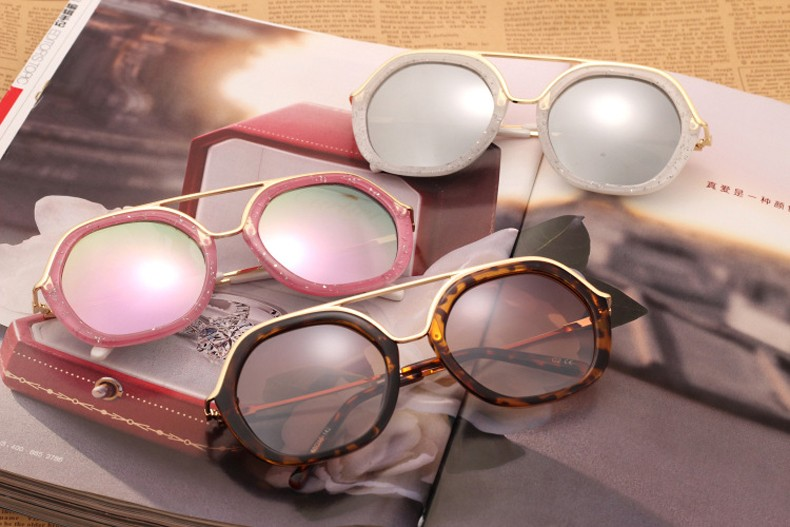 New Fashion Women Sunglasses Brand Designer Polygon Style Lens Shades Ladies Sun Glasses Oculos De Sol for Woman UV400 CC5034