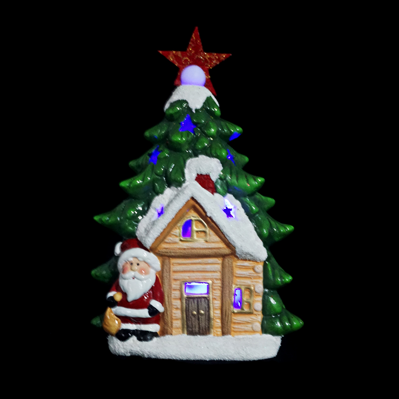 2016 High Quality Ceramic LED Christmas Figurines Village Lighted Houses