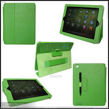 Thermal Styling Stand Leather Case Cover with Card Slots and Stylus Slots for Apple iPad 3 P-iPAD3CASE063