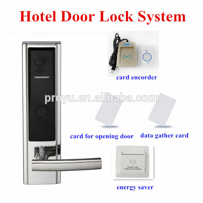New Arrival Hidden Key Smart Electronic RFID System Door Hotel Lock PY-8302-Y