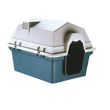 Large Size plastic pet dog house 840*630*628.5mm ORIENPET& OASISPET OPT51766