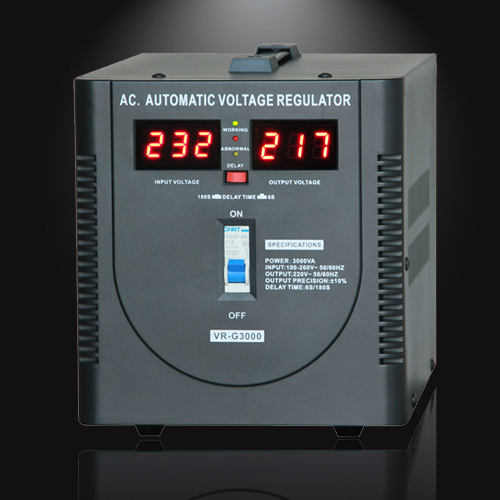 Home use 3000VA Automatic Voltage Regulator Stabilizer AVR with meter display
