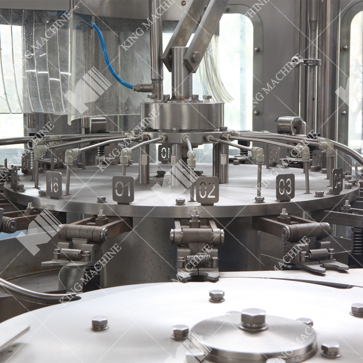 Juice filling machinery or line