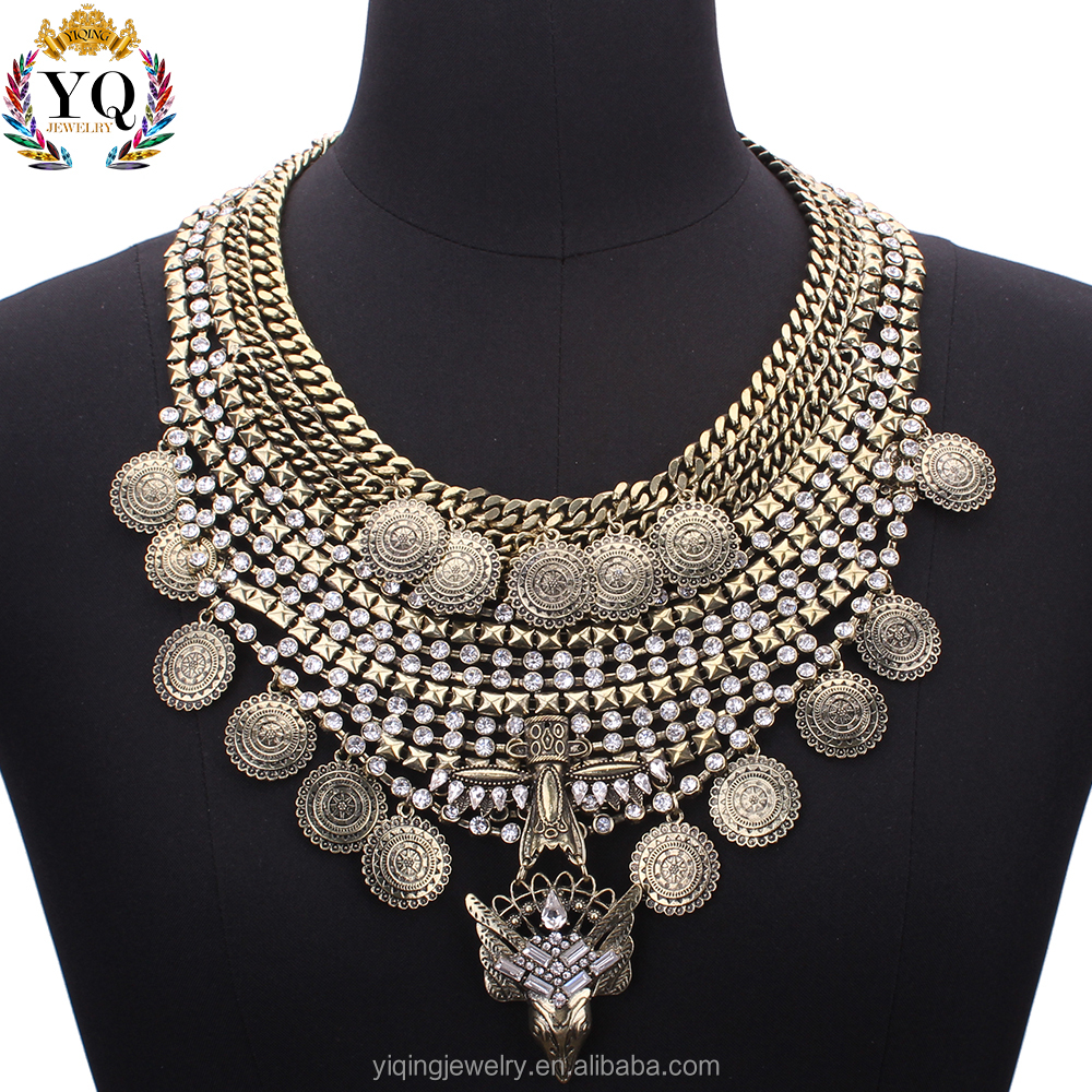 NYQ-00732 High quality coin latest design fancy chunky hot sell tribal jewellery