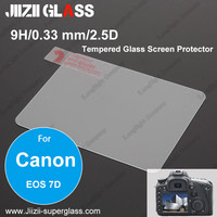 Jiizii Glass Tempered Glass LCD Screen Protector Film Screen Guard Cover Shield for Canon EOS 7D SLR Digital Camera