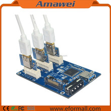 PCI-E 1X Expansion Kit 1 to 3 Port Switch Multiplier HUB Riser Card and USB Cable