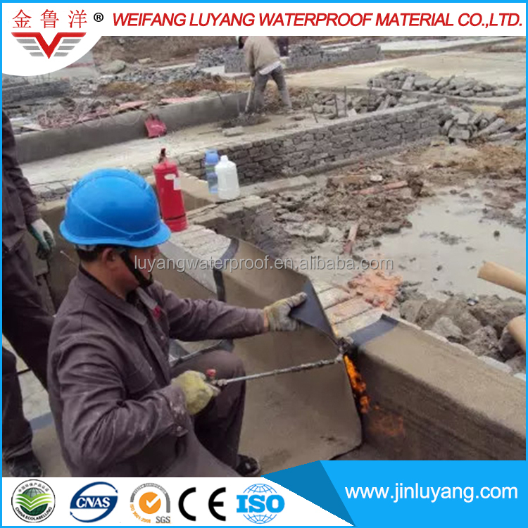 bituminous torch applied waterproof membrane for roof