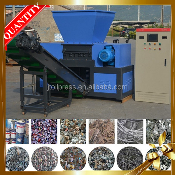 India factory competitive price manufacturer double shaft small scrap industrial plastic shredders