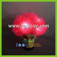 Pink Afro Wig with Flashing Leds