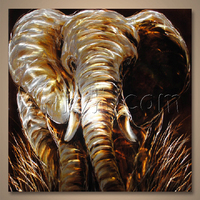 Newest Style Home Decorative Animal Elephant Aluminium Metal Wall Art