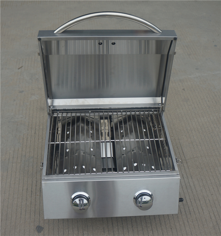 Outdoor 2 burners professional bbq gas grill