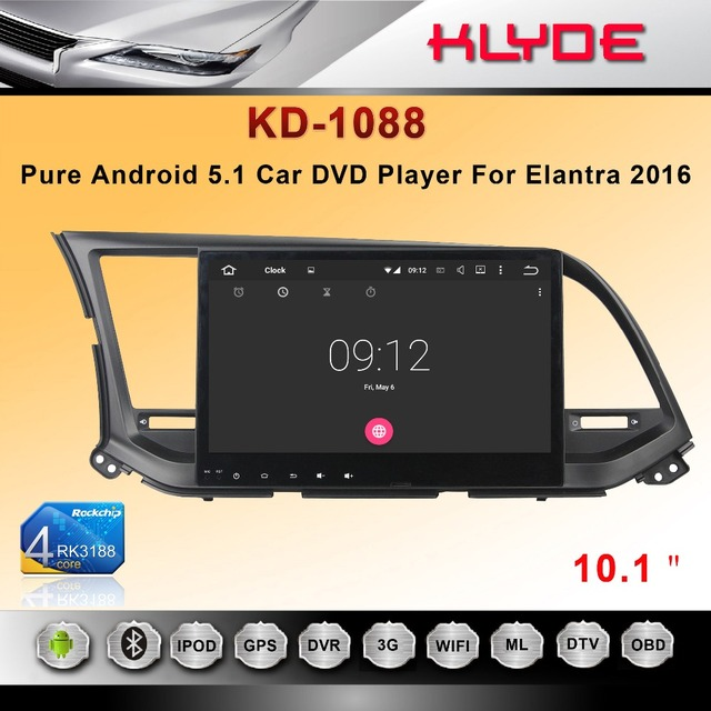 voice command With Smart Phone Mirror Link car radio player for ELANTRA 2016