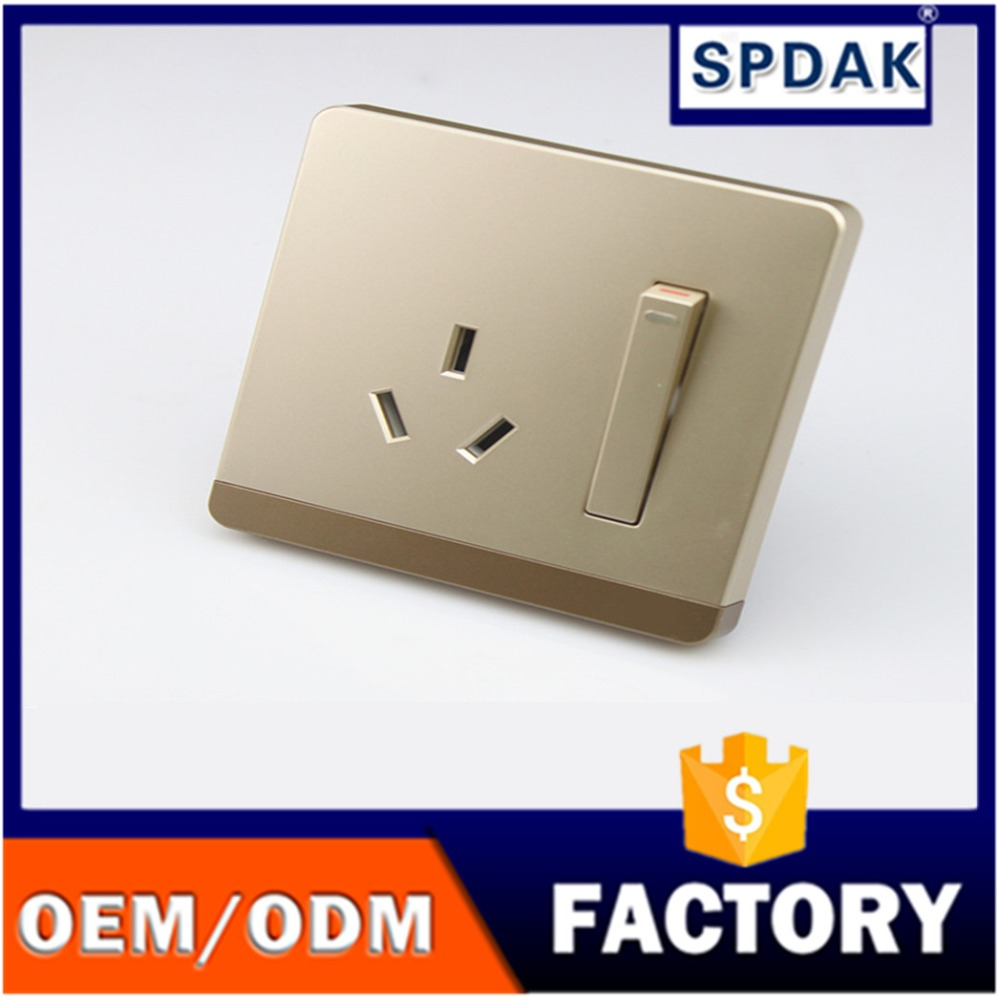 A large number of wholesale Q8 luxury 16A socket switch