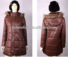 Fashion women winter long quilted jacket/coat
