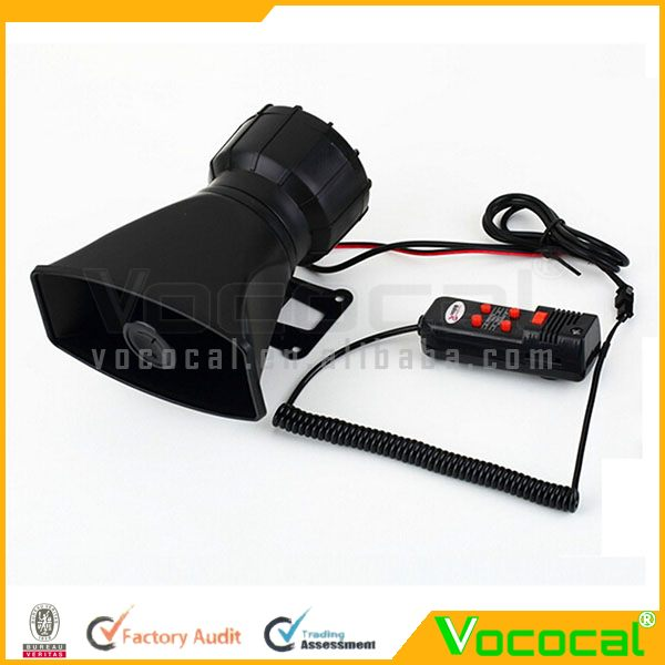 12v Electric Loud Horn Auto Loudspeaker For Car Truck Police W/5 Tones
