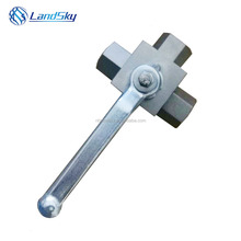 L what is a full port 3 way high pressure ball valve KHB3K-M52X2 position three-way 500bar DN 32mm carbon brass stainless steel