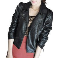 Motorcycle Leather Jacket Women 2016 Spring Autumn Red Black PU Plus Size Jackets Zipper Short Coat Hot Sale Cool Jackets