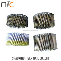 Hot Selling Silver color stainless steel coil roofing nails