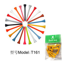 Factory custom 42/54/70/83mm golf wooden tee , promotional golf accessory T161
