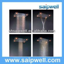 Newly Design Fashional special led overhead shower With Different Color SP-D001-1