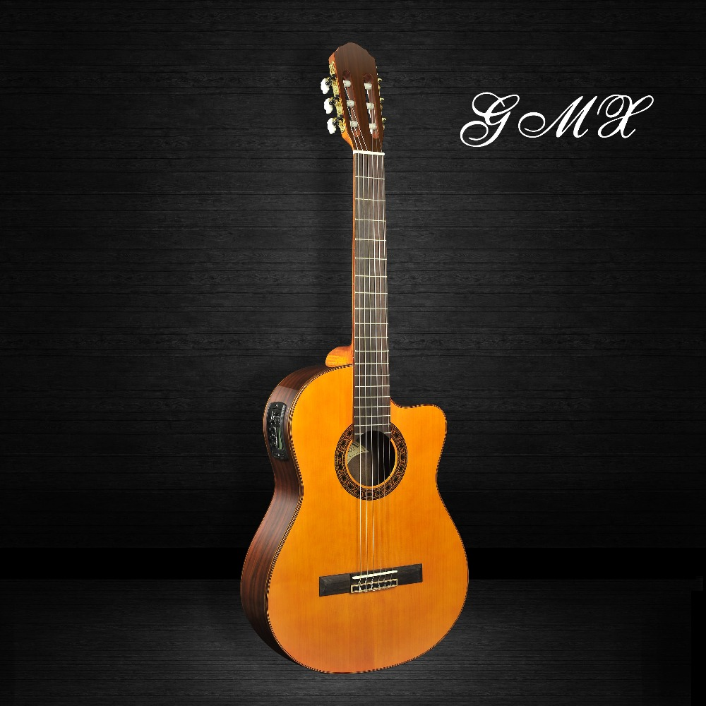 Solid spruce top and side classic guitar/solid wood 39 inch classical guitar