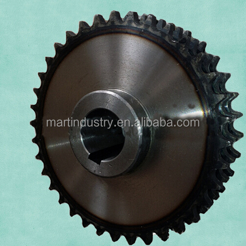 Duplex TYPE C sprocket with tooth hardened