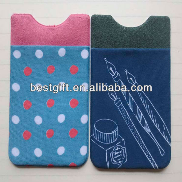 Fashion adhesive ultra slim wallet stickable slim wallet card holders