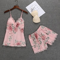 B20320A Women summer Pajama Set Sweet two piece Homewear clothing