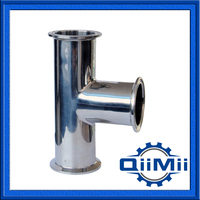 Sanitary, Stainless Steel, 3A, SUS304, Mirror Polished, Short Type Tee