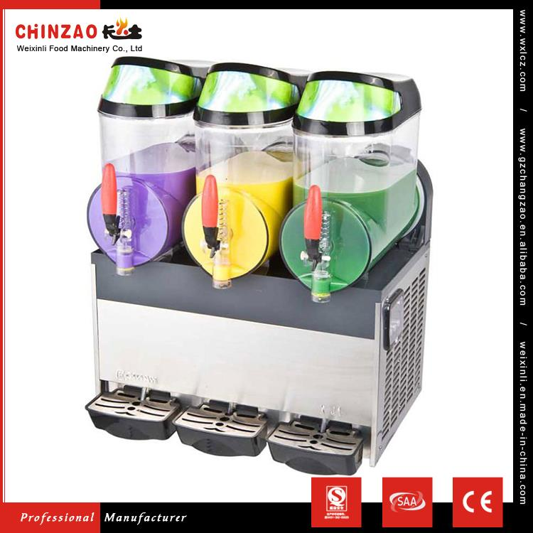 CHINZAO Chinese Products Sold 10L*3 Three Bowl Slush Dispenser Slush Machine With Handle