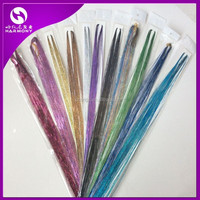 STOCK 60 packs sparkling bling hair tinsel with various colors for holidays, birthdays, night clubs, weddings and so on