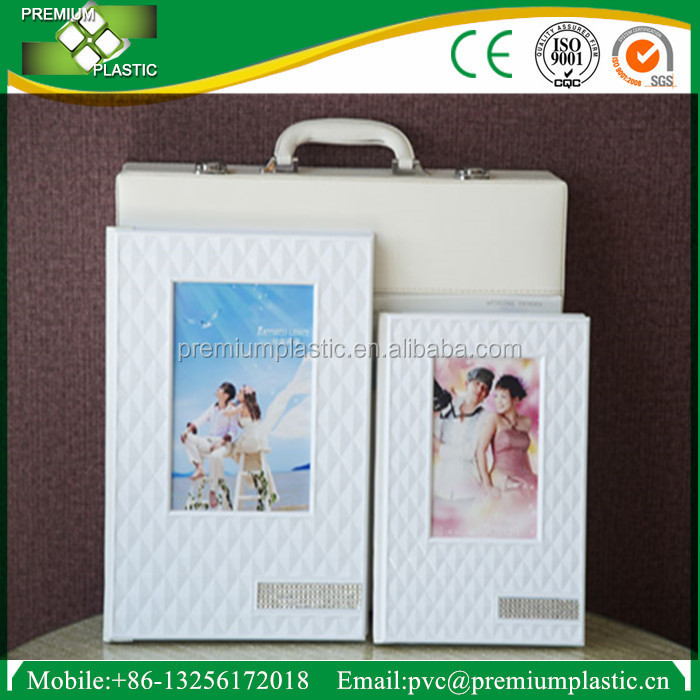 self adhesive vinyl waterproof pvc sheets for menu and photo book album