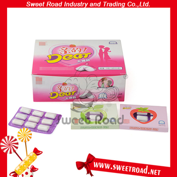 9pcs Love Kiss Sweet Chewing Gum
